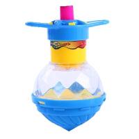 新款儿童发光旋转弹射吸卡单装陀螺夜市地摊货源义乌玩具批发 发光极速陀螺