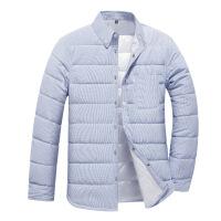 №【2019新款】冬天年轻人穿的男士青年格子衬衫羽绒衬衣休闲韩版潮流外套
