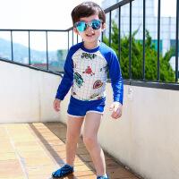 儿童泳衣男童防晒中大童分体游泳衣韩国幼儿宝宝速干温泉泳裤套装