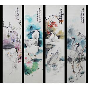 现代画家  杨丽   春江水暖鸭先知1*4