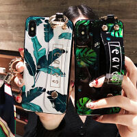20190727060822775ins龟背叶腕带iphone xs max手机壳挂绳7plus硅胶6splus潮苹果