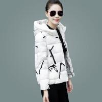 新款韩版修身连帽短款棉衣女装短外套休闲冬季小棉袄羽绒