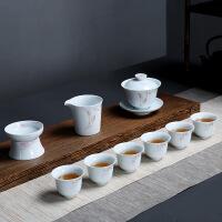 茶具套装陶瓷纯手工手绘盖碗茶具套装瓷手工盖碗套