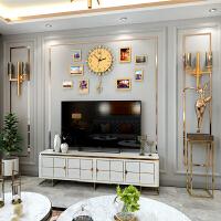 创意欧式钟表 现代简约挂钟客厅音乐时尚挂表静音装饰钟 +8个相框 20英寸以上