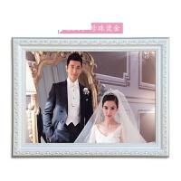 欧式实木相框16/20/24/30/36寸婚纱照相框挂墙加冲印照片画框