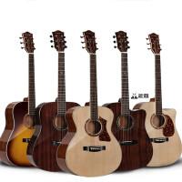 ?单板吉他民谣木吉他指弹40寸41寸初学者学生男女生吉他电箱?