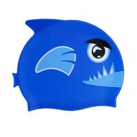 卡通泳帽男童女童可爱小鱼动物造型 儿童鱼形 防水硅胶游泳帽