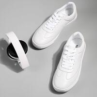 【秒杀价43.9元,仅限10.10日】唐狮秋季新款板鞋小白鞋子韩版休闲鞋透气潮流鞋男生白色运动潮鞋