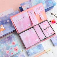 便签纸盒装创意可爱便利贴套装少女卡通ins学生韩国网红N次贴组合