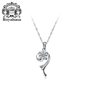 皇家莎莎S925银项链女吊坠锁骨链颈链-旋转银河(赠送银链)