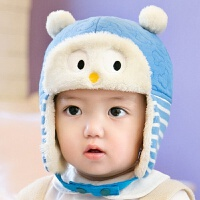 新品男女童宝宝帽秋冬1-2岁婴儿帽子0-3-6-12个月儿童护耳帽冬天