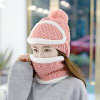 韩国毛线帽子女冬加绒加厚韩版潮百搭冬季骑车可爱针织冬天保暖帽
