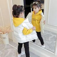童装女童套装冬装2018新款加绒三件套韩版儿童女宝宝洋气小孩衣服
