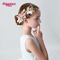 女童头饰儿童发夹发饰女孩发夹韩式手工蝴蝶花朵发夹