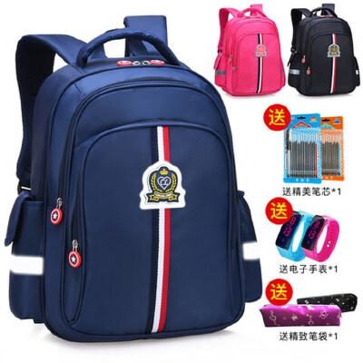 儿童书包小学生男童1-3年级轻便可定制印LOGO4-6年级女孩双肩背包