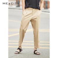 【2件1.5折价:74.9,可叠券】MECITY男装夏季时尚直筒休闲裤男士潮流修身裤子男