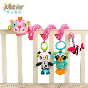 jollybaby0-1岁新生儿毛绒玩具益智婴儿床铃床绕宝宝摇铃床挂件