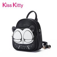 Kiss Kitty双肩女包2017年日韩新款大眼猫Myoo背包个性时尚书包潮