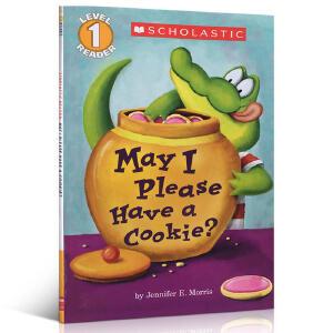英文原版 May I Please Have A Cookie? 我可以吃块饼干吗? Scholastic 学乐系列 Level1 低幼儿童启蒙绘本