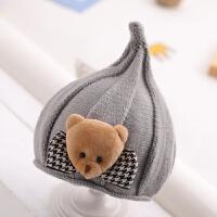 婴儿帽子冬季宝宝毛线帽0-1岁2男女童可爱精灵帽秋冬天儿童针织潮 均码