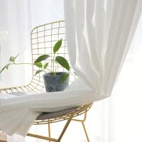 ins窗帘北欧风格阳台窗帘定制 加厚透光不透人白纱白色拍摄背景布 白色