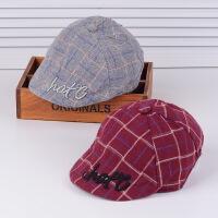 宝宝帽子秋冬天儿童贝雷帽子男女童帽8-10-12-24个月婴