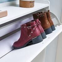 超薄门外翻斗式门口放鞋的鞋柜过道家用17cm进门鞋架大容量经济型