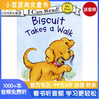 英文绘本 原版进口Biscuit Takes a Walk 小饼干去散步 [4-8岁] I Can Read