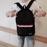 双肩包男时尚潮流韩版中学生书包帆布休闲男生电脑背包大容量旅行