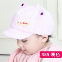 宝宝春夏秋全棉软舌帽鸭舌帽婴儿遮阳帽0-3-6-个月新生儿帽子2363 均码 0-个月