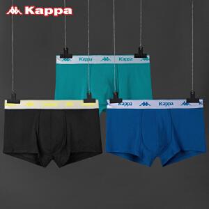 Kappa/卡帕(3条装)男士内裤莫代尔舒适中腰平角裤KP8K12A