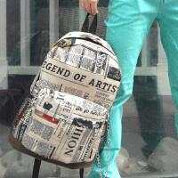高中初中学生书包双肩包男女士欧美复古背包旅游包