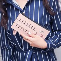 纯色大号手机包手拿零钱包长款女士手包多功能大容量两层拉链