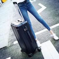 行李箱女拉杆箱男士旅行箱包密码箱皮箱子青年潮万向轮韩版小清新 尊贵黑 升级金属包角