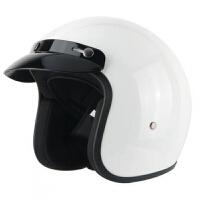 复古头盔男四季电动摩托车女士头盔夏季时尚可拆卸机车玻璃钢半盔