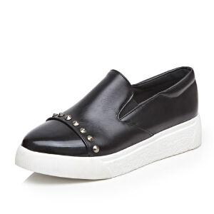 WARORWAR法国YG15-7732019新品冬季欧美平底鞋舒适女鞋潮流时尚潮鞋百搭潮牌乐福鞋