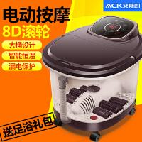 足浴盆全自动按摩家用烫脚盆加热电热洗脚盆机桶电动泡脚器