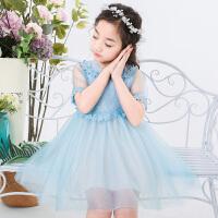 女童裙子夏装新款时尚连衣裙韩版儿童夏季洋气公主裙蓬蓬纱潮