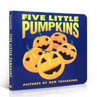 英文原版绘本 5 Litt Pumpkinsbb 五个小南瓜 万圣节 儿童绘本 幼儿启蒙学习英文版 儿童启蒙阅读教材绘
