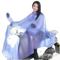 男女电动车雨衣   摩托车骑行雨披套装 透明柔软大长雨衣
