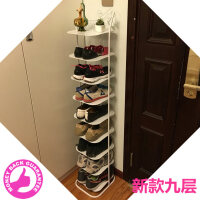 防尘九多层收纳金属简易小鞋柜子经济型家用客厅铁艺鞋架o2b