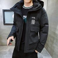 冬季棉衣韩版潮流短款加厚连帽羽绒棉袄子帅气冬天装