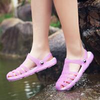 去度假海边凉拖鞋女夏新款果冻沙滩鞋女洞洞鞋花园拖鞋女夏鞋