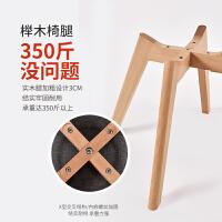实木椅子靠背凳子家用成人办公书桌椅现代简约北欧时尚伊姆斯餐椅