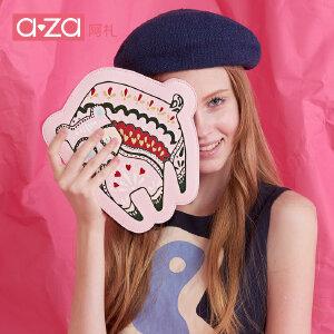 aza阿札2017夏季新款学生拉链小钱包 卡通动物芬兰猫硬币包8893