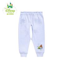迪士尼Disney婴幼儿服饰宝宝纯棉秋裤新生儿双松紧开裆裤153K665
