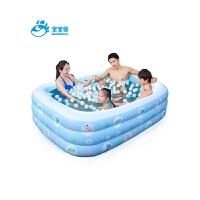 婴儿充气游泳池宝宝戏水池加厚家用海洋球池