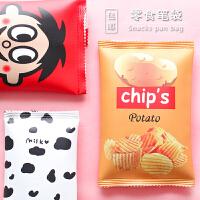 ins文具笔盒创意学生韩版笔袋创意个性搞怪男女生简约零食文具袋