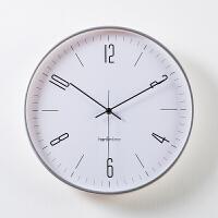 挂钟客厅北欧现代简约 钟表时钟家用静音挂表 创意时尚大壁钟圆形 14英寸