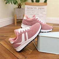 8中大童平底板鞋加绒小白鞋冬季10-16岁小学生女孩保暖休闲运动鞋 6粉色加棉